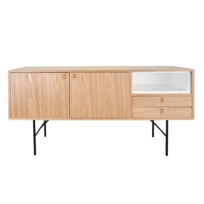 Veneria Wooden 2 Door 2 Drawer Buffet Table, 160cm