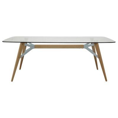 Misvar Glass Top Dining Table, 200cm