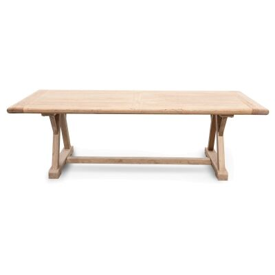 Bellevue Reclaimed Elm Timber Dining Table, 240cm