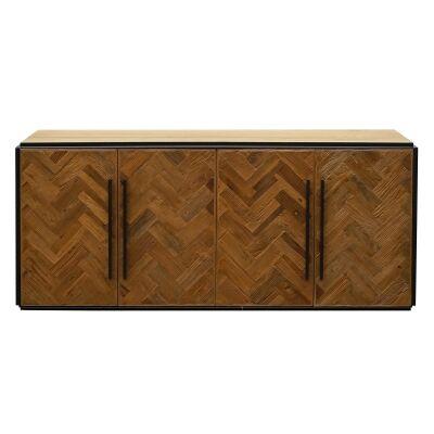 Jayco Reclaimed Elm Timber 4 Door Sideboard, 200cm