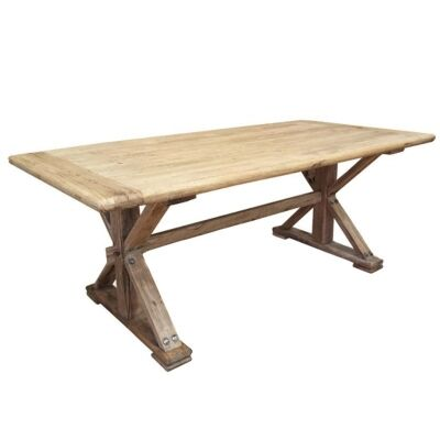 Winton Reclaimed Elm Timber 240cm Dining Table - Natural