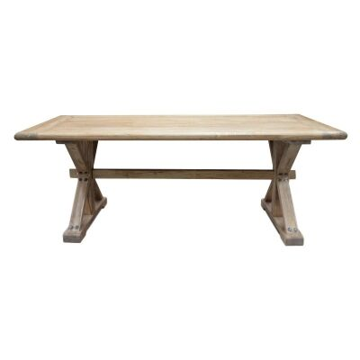 Winton Reclaimed Elm Timber 198cm Dining Table - Natural