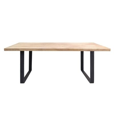 Darton Reclaimed Timber & Steel Dining Table, 150cm