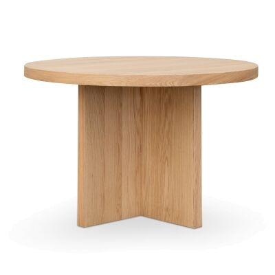 Merton Wooden Round Dining Table, 120cm, Oak