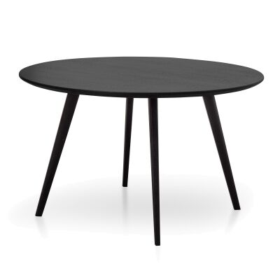 Replica Mario Cellini Halo Round Dining Table, 120cm, Black-I