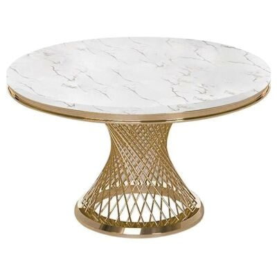 Rotta Faux Marble Round Dining Table, 150cm