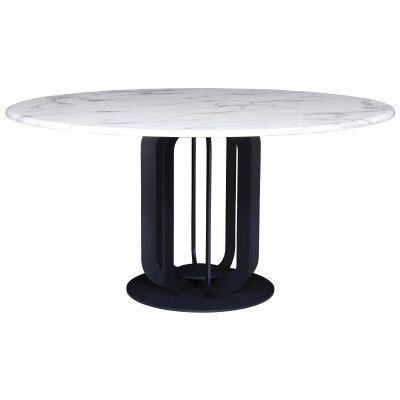 Moneta Faux Marble Round Dining Table, 150cm