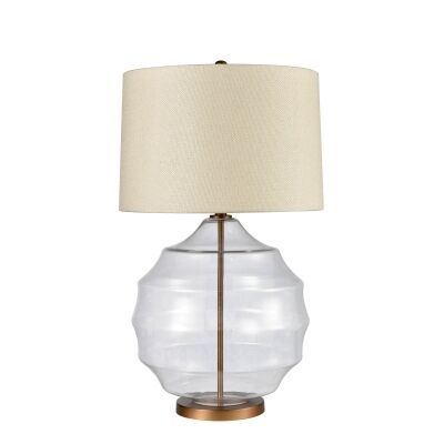 Victoria Glass Base Table Lamp
