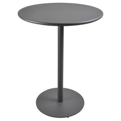 Havana Metal Outdoor Round Bar Table, 80cm, Anthracite