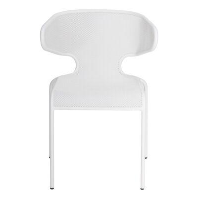 Havana Metal Outdoor Dining Chair, White