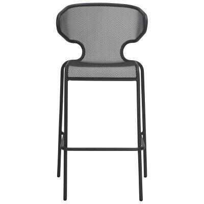 Havana Metal Outdoor Bar Chair, Anthracite