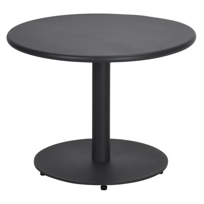 Havana Metal Outdoor Round Coffee Table, 60cm, Anthracite
