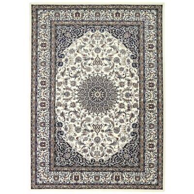 Dynasty Rae Oriental Rug, 330x240cm, Black / Ivory