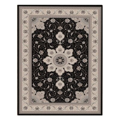 Shiraz Yasmine Oriental Rug, 300x400cm, Black