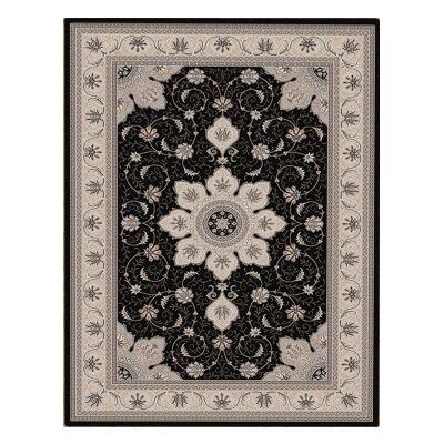 Shiraz Yasmine Oriental Rug, 80x150cm, Black