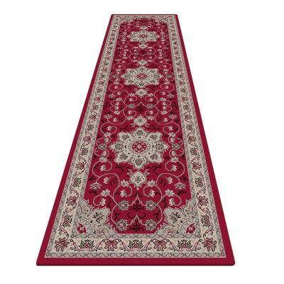 Shiraz Yasmine Oriental Runner Rug, 80x300cm, Red