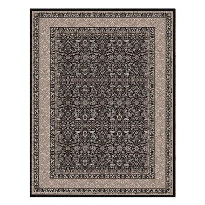 Shiraz Kyra Oriental Rug, 160x230cm, Black