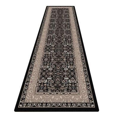 Shiraz Kyra Oriental Runner Rug, 80x300cm, Black