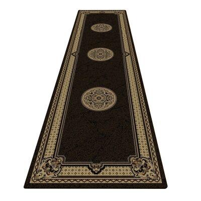 Shiraz Margaret Oriental Runner Rug, 80x300cm, Black