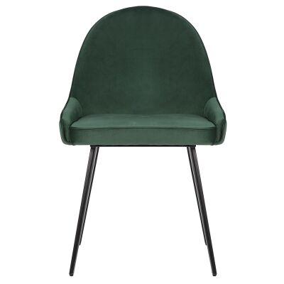 Dane Commercial Grade Velvet Fabric Dining Chair, Green