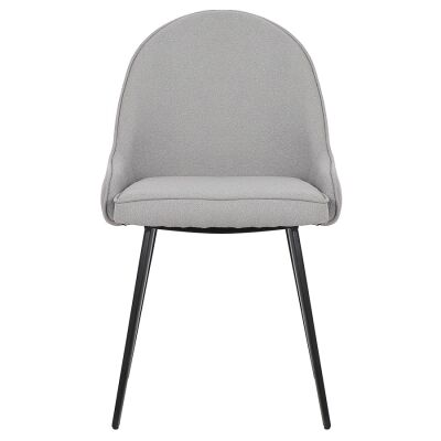 Dane Commercial Grade Boucle Fabric Dining Chair, Grey