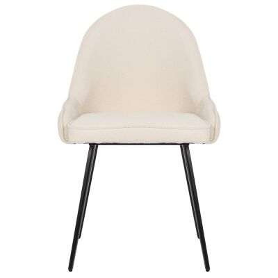 Dane Commercial Grade Boucle Fabric Dining Chair, White
