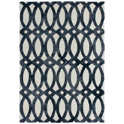 Dip Dye Hand Tufted Wool Rug, 200x300cm, Charcoal