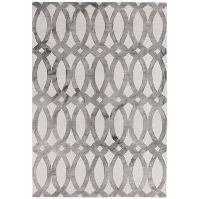Dip Dye Hand Tufted Wool Rug, 200x300cm, Grey