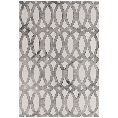 Dip Dye Hand Tufted Wool Rug, 250x300cm, Grey