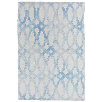 Dip Dye Hand Tufted Wool Rug, 250x300cm, Blue