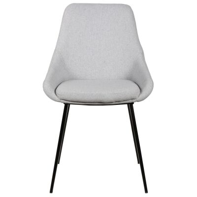 Domo Commercial Grade Fabric Dining Chair, Light Grey