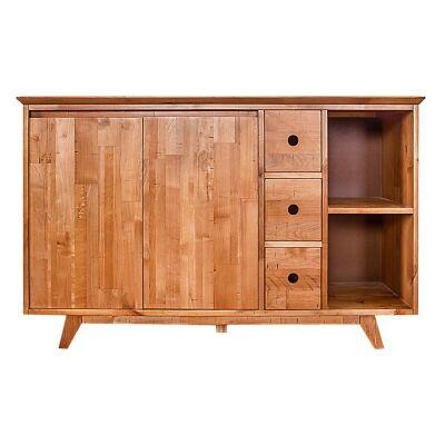Bradlee Mountain Ash Timber 2 Door 3 Drawer Buffet Table, 143cm
