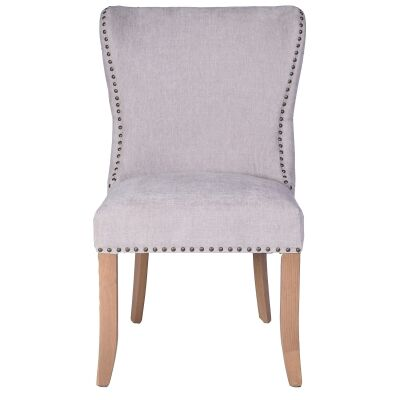 Bosco Linen Fabric Dining Chair, Grey / Husk