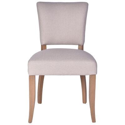 Ditton Linen Fabric Dining Chair, Cream / Husk