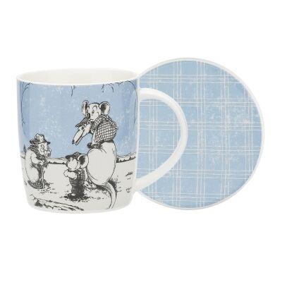 Ecology Blinky Bill New Bone China Mug & Coaster Set, Blue