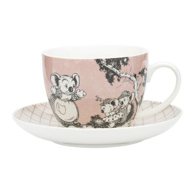 Ecology Blinky Bill New Bone China Cup & Saucer Set, Coral