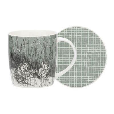 Ecology Blinky Bill New Bone China Mug & Coaster Set, Green