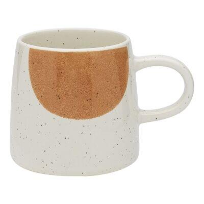 Ecology Nomad Stoneware Mug, Papaya / White