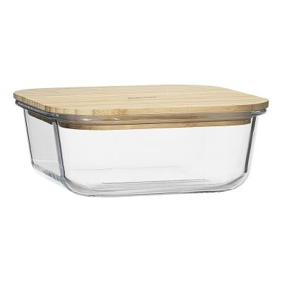 Ecology Nourish Square Glass Container, 18cm