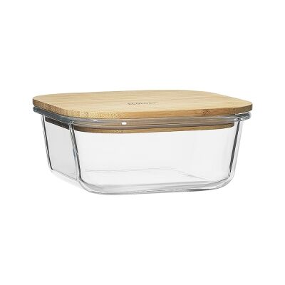 Ecology Nourish Square Glass Container, 15cm