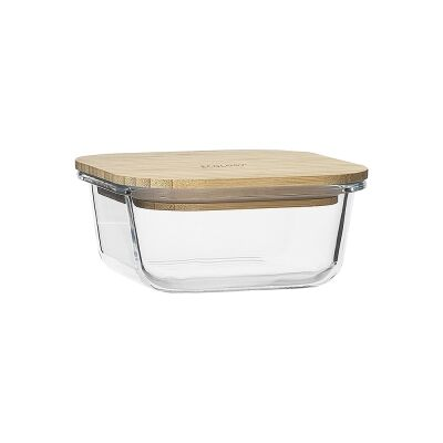 Ecology Nourish Square Glass Container, 13.5cm