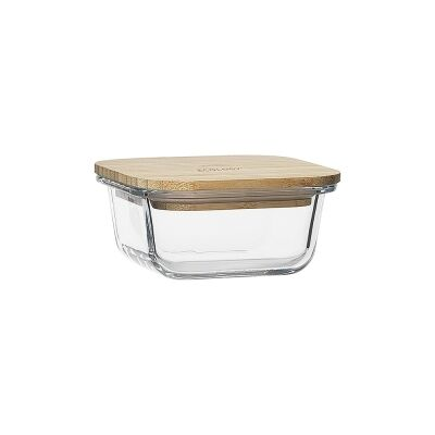 Ecology Nourish Square Glass Container, 11.5cm