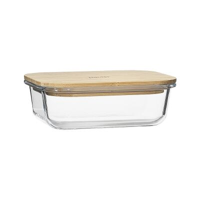 Ecology Nourish Rectangle Glass Container, 17x12.5cm