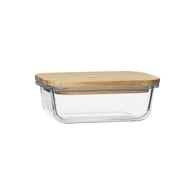 Ecology Nourish Rectangle Glass Container, 14.5x10.5cm