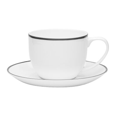 Ecology Bistro Fine Bone China Teacup & Saucer Set