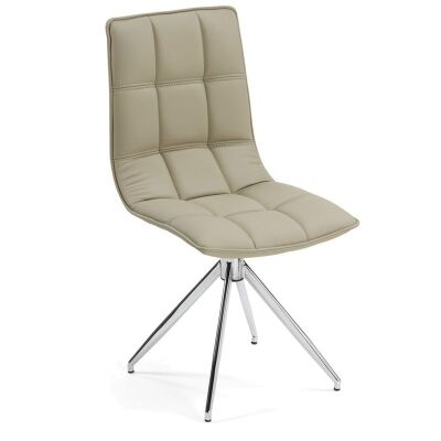 Mayola Swivel Dining Chairs - Pearl