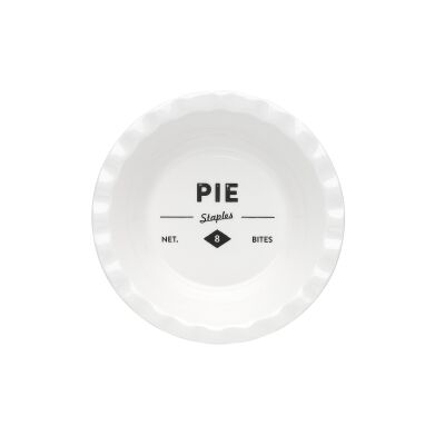 Ecology Staples Foundry Porcelain Shallow Pie Dish