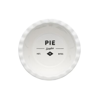 Ecology Staples Foundry Porcelain Deep Pie Dish