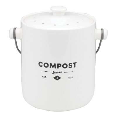 Ecology Staples Foundry Porcelain Compost Bin