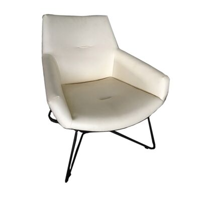 Leisure Vinyl Armchair, Ivory